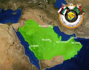 GCC Patent Ofisine üye ülkeleri gösteren harita