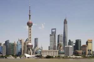 Şangay'dak gökdelenlerin genel bir görünümü