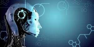 Yapay Zeka Robotun Baş Kısmının Yandan Profili