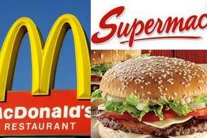 McDonald's Logosu, Supermac's logosu ve hamburger