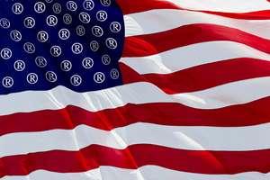 Marka tescili işaretli ABD bayrağı