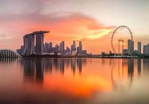 Singapur gün batımı
